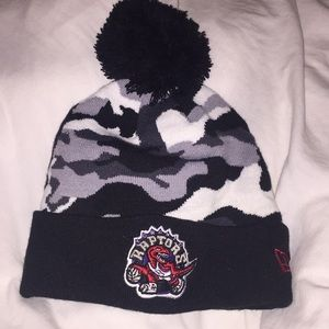Accessories - Black grey and white camo raptors toque